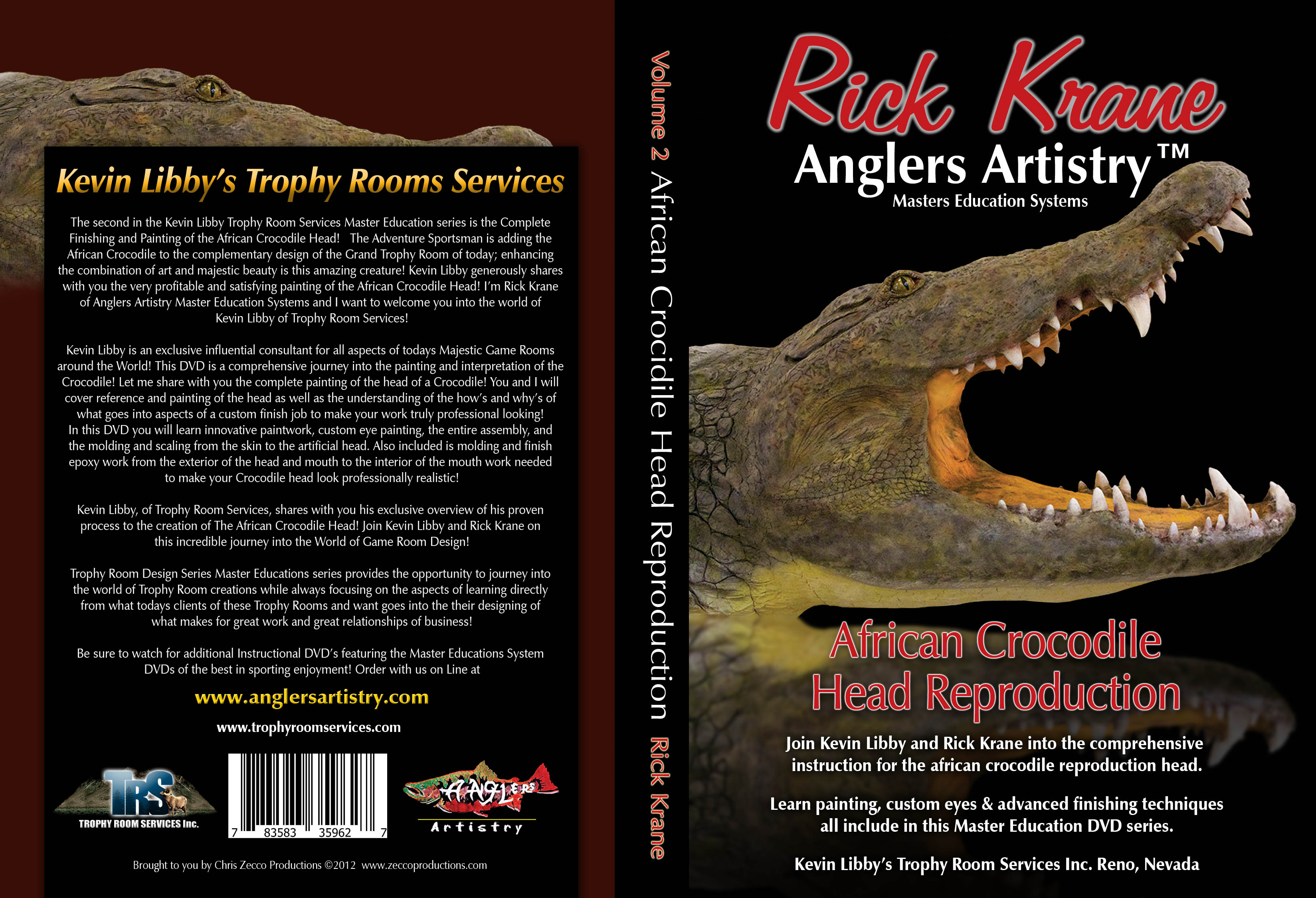 African Crocodile Head Reproduction Finishing and Painting